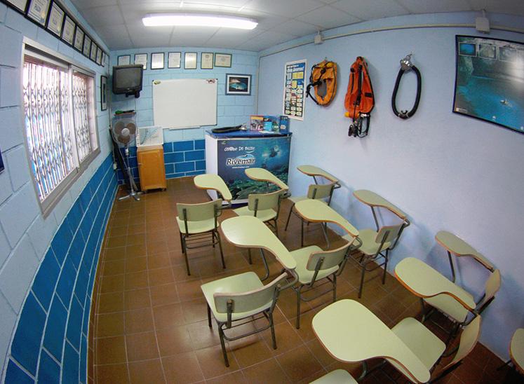 Aula Centro de buceo Rivemar La Azohía