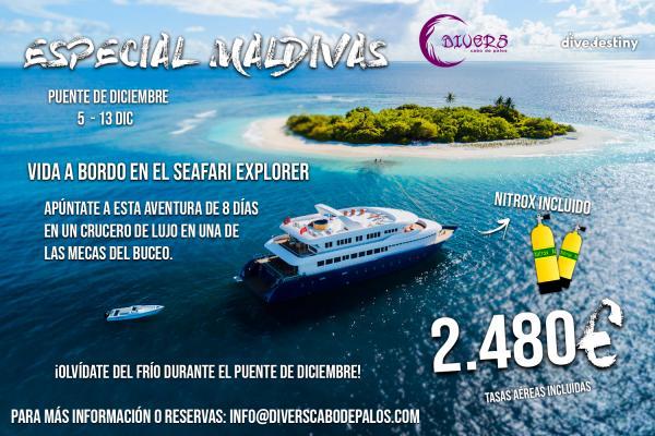 Inscripciones para el Viaje a Maldivas con Divers Cabo de Palos - Diciembre 2020
