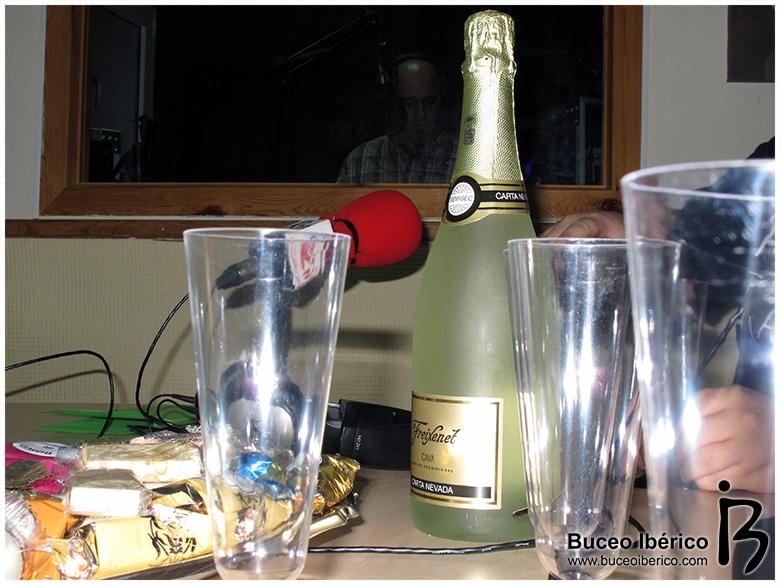 Turrones y champán