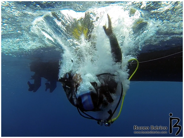 Bajo de Dentro con Mangamar, al agua