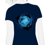 Camiseta Tornado de Tiburones Chica - vista trasera