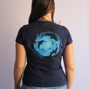 Camiseta Tornado de Tiburones vista trasera