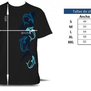 Camiseta Tiburones Tribales Chico - tabla de tallas