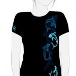 Camiseta Tiburones Tribales Chica - vista delantera