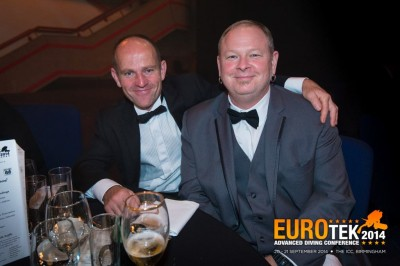 Jason Mallison (izda.) Premio Buceador EUROTEK2014