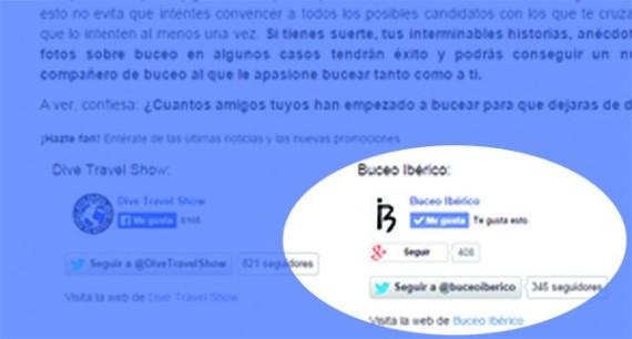 Patrocina un reportaje en Buceo Ibérico