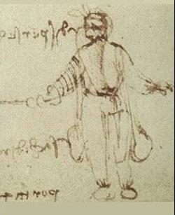 Sistema de lastrado del traje de buceo de Leonardo da Vinci