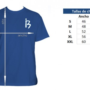 Camiseta Tornado de Tiburones Chico - tabla de tallas
